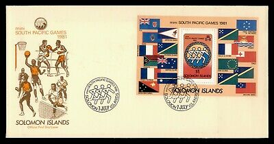 Dr Who 1981 Solomon Islands Fdc Mini South Pacific Games S/S Nice Cachet 150207