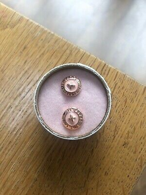 Rose Gold And Baby Pink Ted Baker Button Earings. Only Worn Once.