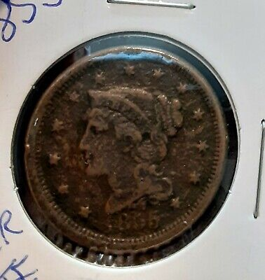 🎗1855 Braided Large cent. Nice coin🎗