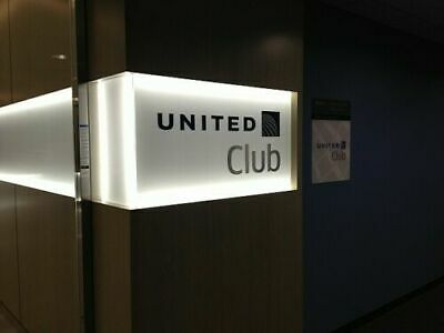 Two (2) United Airlines Club Lounge One-Time Passes EXPIRES March 11  2021