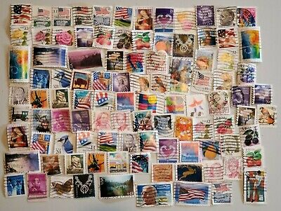 100 Used USA Stamps - All Off Paper - Lot 7