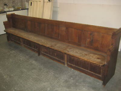 Antique Oak and Pitch Pine Church Pew 11 1/2 Ft long