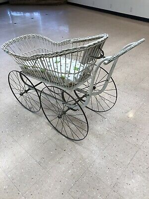 Vintage Wicker Buggy Full Size