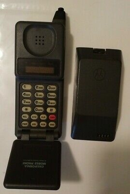 Vintage Motorola California Mobile 1st Flip Cell Phone Collectible MicroTAC
