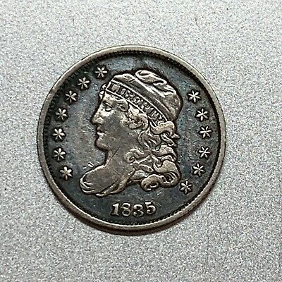 1835 Capped Bust Half Dime   Vf+  Key Type Coin