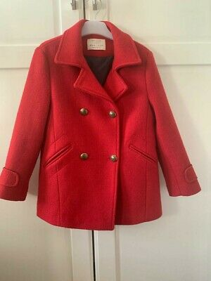 zara girls age 8 years Red Military Double Breasted Coat