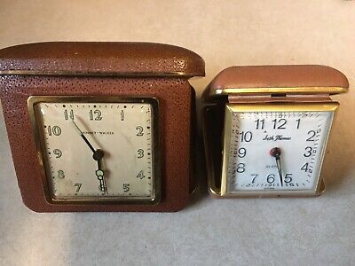 Lot of 2 Travel Alarm Clocks-Lux Phinney Walker and Seth Thomas-Both Work