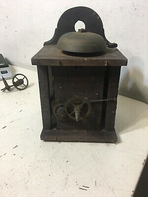 Antique Black Forest Wood Plate Wag On The Wall Clock Movement Parts