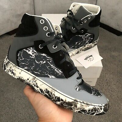 Marble Print High Top Sneakers Size