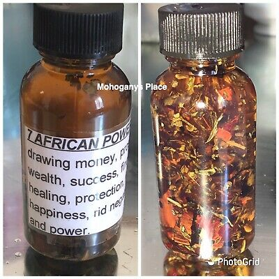 7 African Powers Oil Hoodoo Pagan Money Protection Power