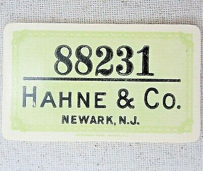 Hahne & Co Credit Card Antique Celluloid Plastic Vintage Charge 88231