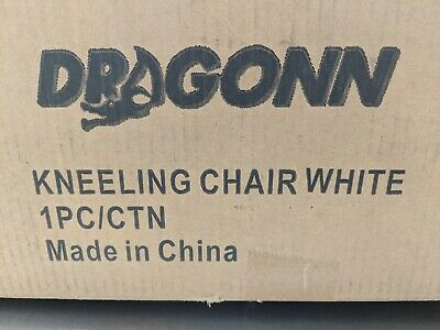 Ergonomic Kneeling Chair, Adjustable Stool for Home and Office - White READ DISC