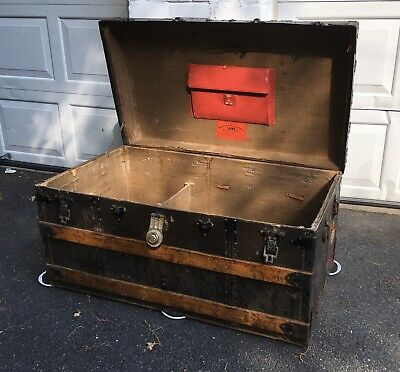 Crouch And Fitzgerald Steamer Trunk