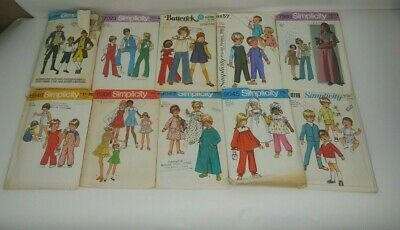 Lot of 10 Vintage Sewing Patterns Kids (9) Simplicity (1) Butterick