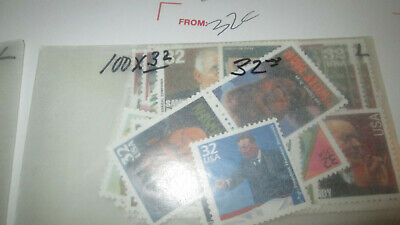 US Discounted Postage 200x 32c stamps MNH Face $64.00