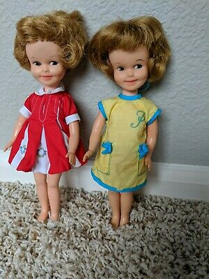 Vintage Lot Of 2 1960's Penny Brite Dolls With Original Clothes