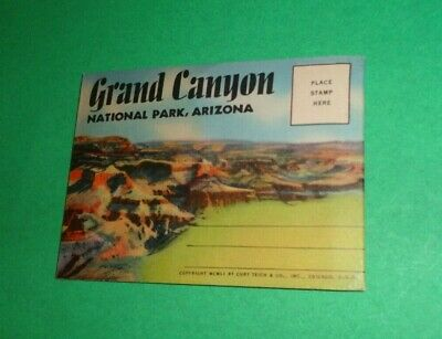 Vintage Souvenir Postcard With Fold Out Images  Grand Canyon National Park 1951