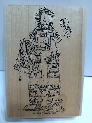Stampin' Up! Set of 6 Rubber Stamps 1996 and 1999 I Love Stamping Used