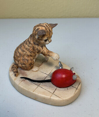 "Border Fine Arts figurine ""CAT & Mouse""  Handmade In Scotland/ Free Ships #305"