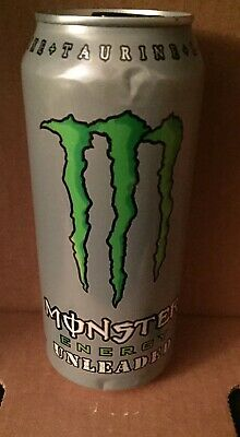 Monster Energy Unleaded  Drink Discontinued 16 oz Full Unopened FREE SHIPPING