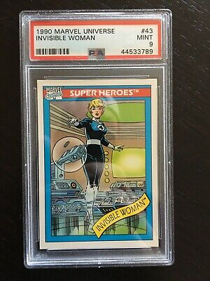 1990 Marvel Universe Invisible Woman #43 PSA 9