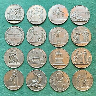 Lot Of 16 Uniface Die Splash 18th & 19th c. French Medal Pattern Trials