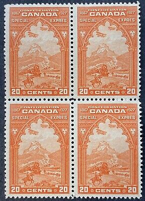 Canada Special Delivery Stamps #E3 Block, Mint OG LH