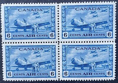 Canada Air Mail Stamps #C7 Block, Mint OG NH