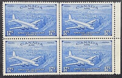 Canada Air Mail Special Delivery Stamps #CE3 Block, Mint OG NH