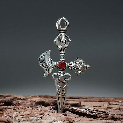 Collectable China Old Miao Silver Hand-Carved Exorcism Delicate Decorate Pendant