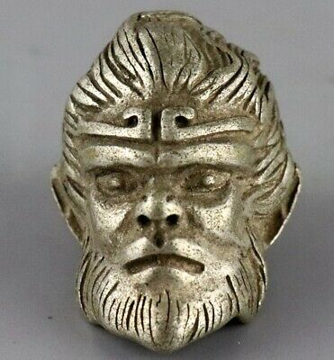 Collectable China Old Tibet Silver Hand Carve Exorcism Buddha Auspicious Pendant