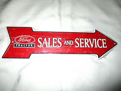 **Unique FORD TRACTOR SALES & SERVICE Metal Arrow Sign #2 - NEW**