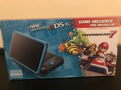 Nintendo 2DS XL With Mario Kart 7 Black Turquoise Brand New In Hand Fast Ship