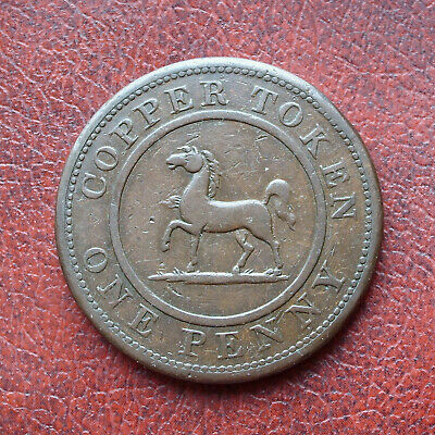 Birmingham & South Wales 1812 copper penny token