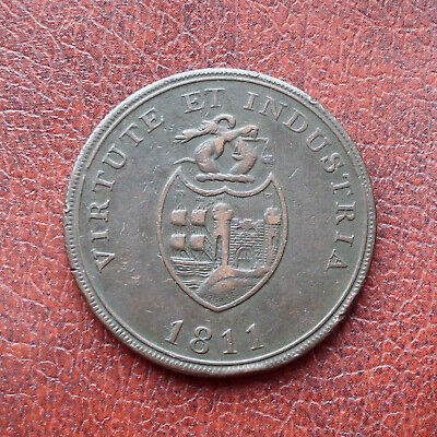 B.B. Copper Co., Bristol 1811 copper penny token