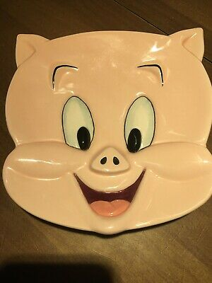 Warner Bros. Porky Pig Ceramic Face Plate 1994. Look At Pictures.
