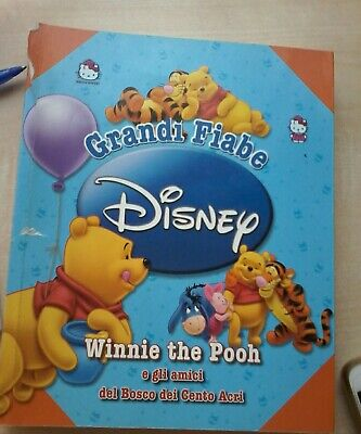 Grandi fiabe disney Winnie the Pooh e gli amici del bosco illustrato a colori