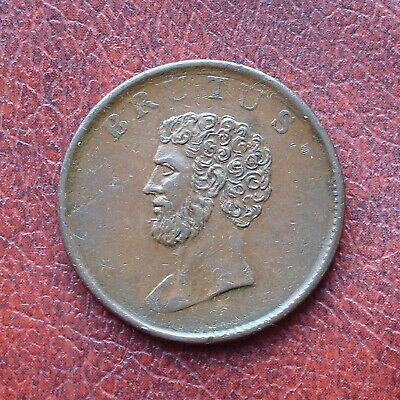 Essex Brutus copper halfpenny token