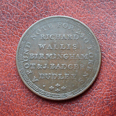 Wallis & Badger, Dudley & Birmingham 1811 copper penny token
