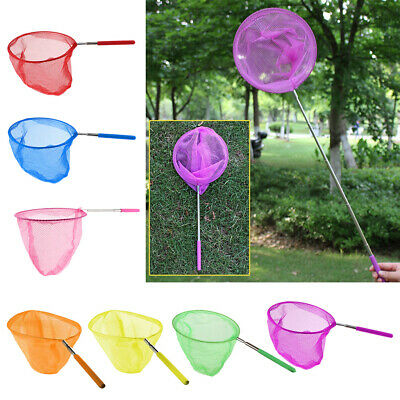2PC Kids Sea Fishing Net Outdoor Extendable Telescopic Handle Bug Insect Catcher