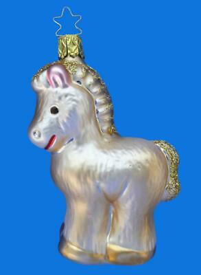 Inge Glas My First Pony German Blown Glass Christmas Ornament Pferd Farm Animal