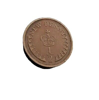 Rare Half Pence 1/2p New Penny 1974 collectable coin.