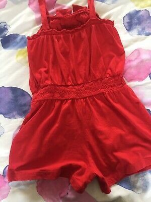 Girls Shorts Playsuit Jumpsuit Age 9-10 George lovely red fab condition