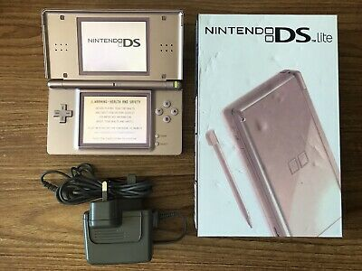 Nintendo DS Lite Metallic Rose Gold Console Handheld System NDS BRAND NEW