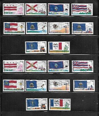 U S Stamps Used 4383 - 4292 Flags Of Our Nation  One (1) Of These Vf Sets