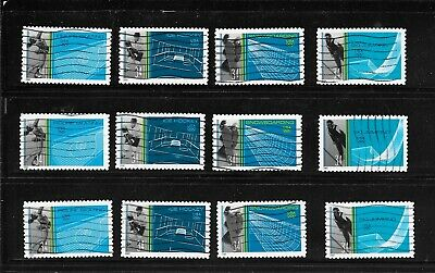 U S Stamps Used 3552 - 3555 Winter Olympics  One (1) Of These Vf Sets