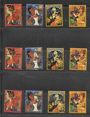 U S Stamps Used 3939 - 3942 Let's Dance  One (1) Of These Vf Sets