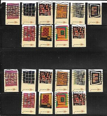 U S Stamps Used 4089 -  4098  American Treasures Quilts  One(1) Of These Vf Sets