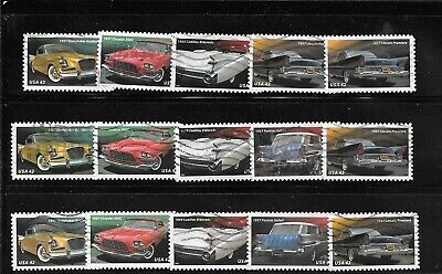 U S Stamps Used  4353 - 4357 Cars Of The 1950'S One(1) Of These Vf Sets