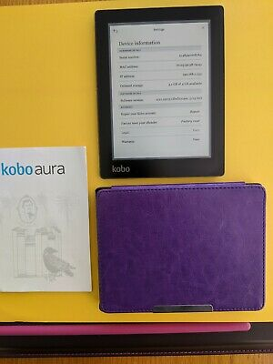 Kobo Aura N514 4GB Ereader, includes 10 books by Lesley Pearse.